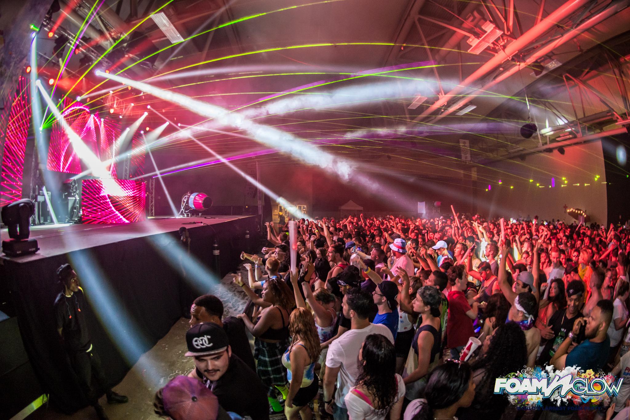 Foam N Glow Worlds Largest Foam Party Wildwood NJ 2018 Concert