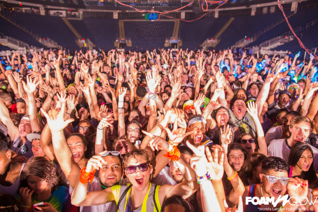 Fun college concert idea foam n glow