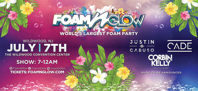 Foam N Glow wildwood NJ